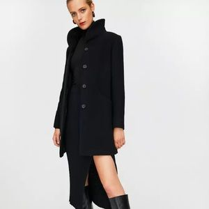 Aritzia Wilfred Cocoon Coat Black